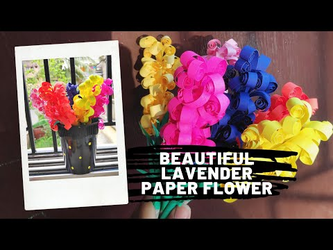 How to make lavender paper flowers || Easy DIY paper craft || No cost home decoration ideas
