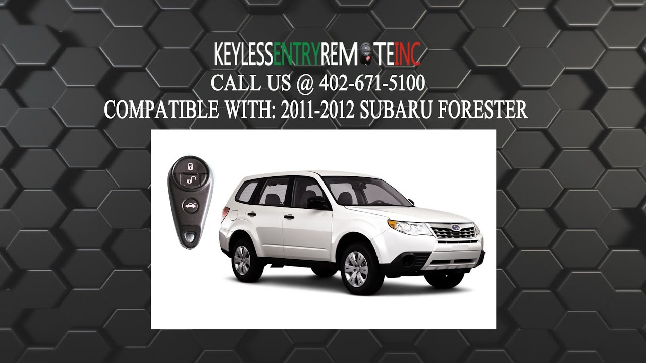 How to replace subaru forester key fob battery 2011 2012