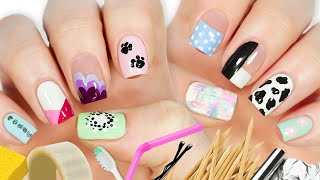 New Nail Art 2020 Fun & Easy Nail Art Designs Using HOUSEHOLD ITEMS!