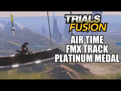Trials Fusion Airtime FMX Track Platinum Medal Skill Showcase With Commentary 1080P