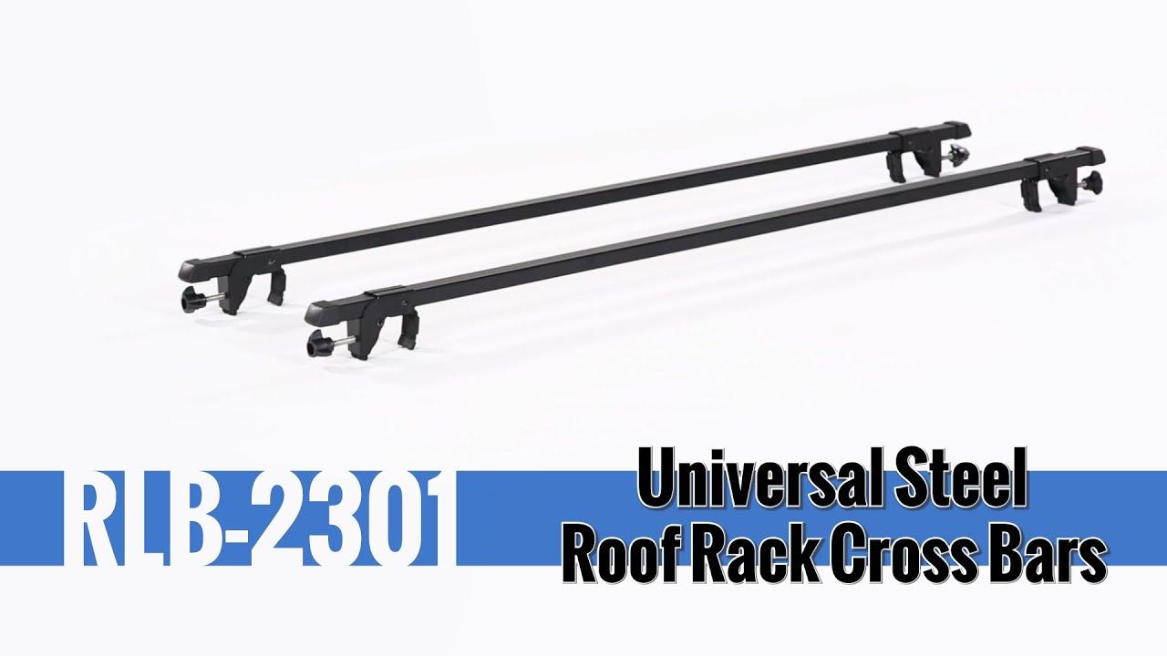 Universal Steel Roof Rack Cross Bars  Installation and