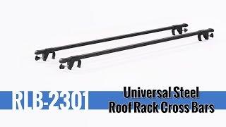 Universal Steel Roof Rack Cross Bars Installation and Use