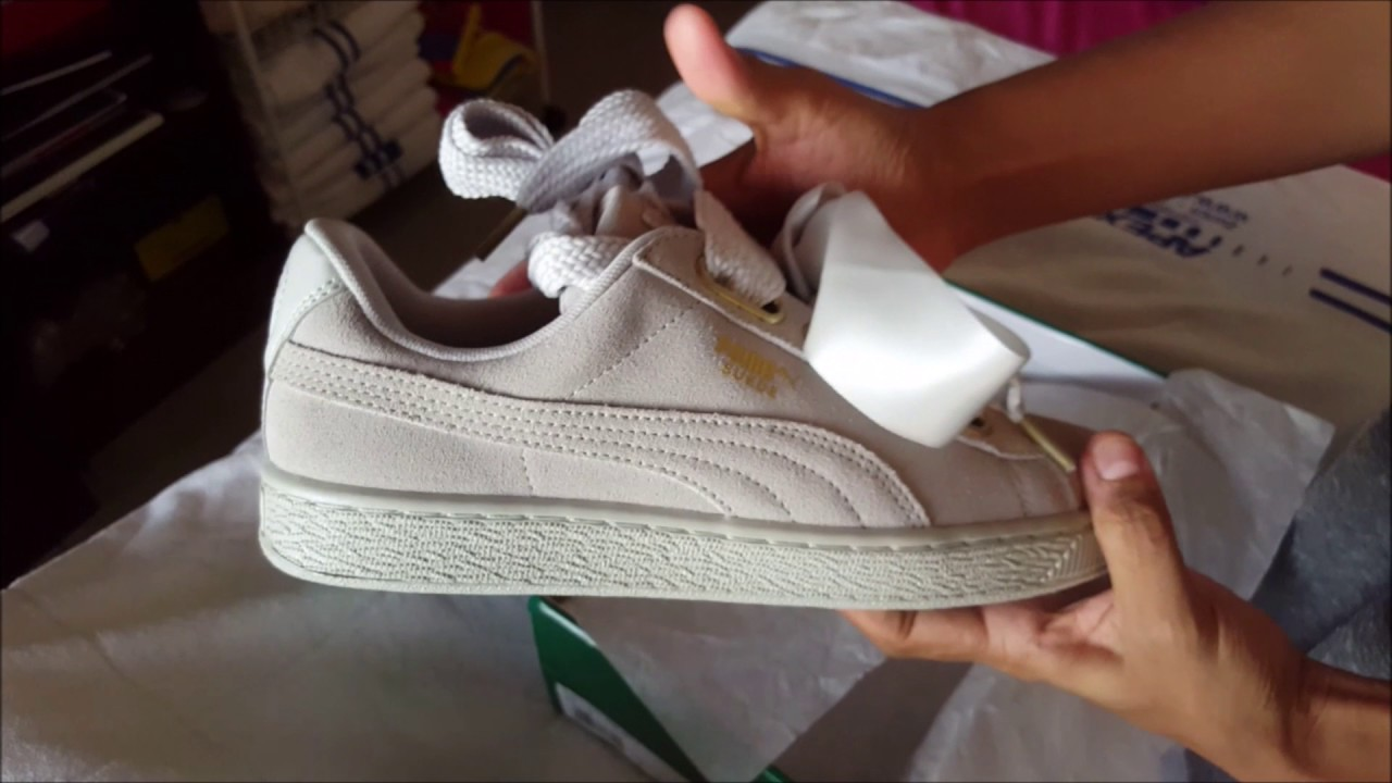 37ed8cea1fddfe Puma Suede Heart Women s shoes 2017 - YouTube