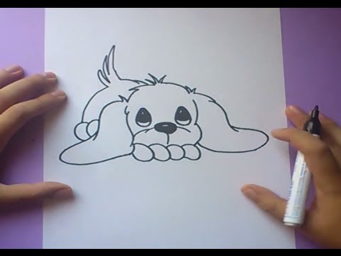 Como dibujar un perro paso a paso 3  How to draw a dog 3  YouTube