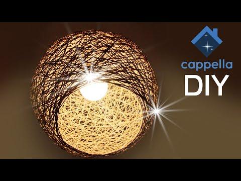 Люстра из верёвки. Супер Арт Объект!!! Креативные решения в интерьере. DIY Cappella