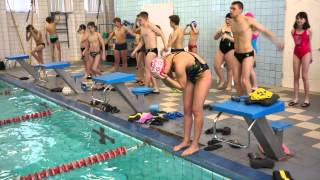 Соревнования по плаванию: до и после стартов (2013)