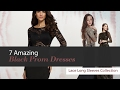 7 Amazing Black Prom Dresses Lace Long Sleeves Collection