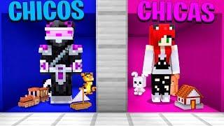 ¡CUARTO DE CHICOS VS CUARTO DE CHICAS EN MINECRAFT! 👦⚔️👧