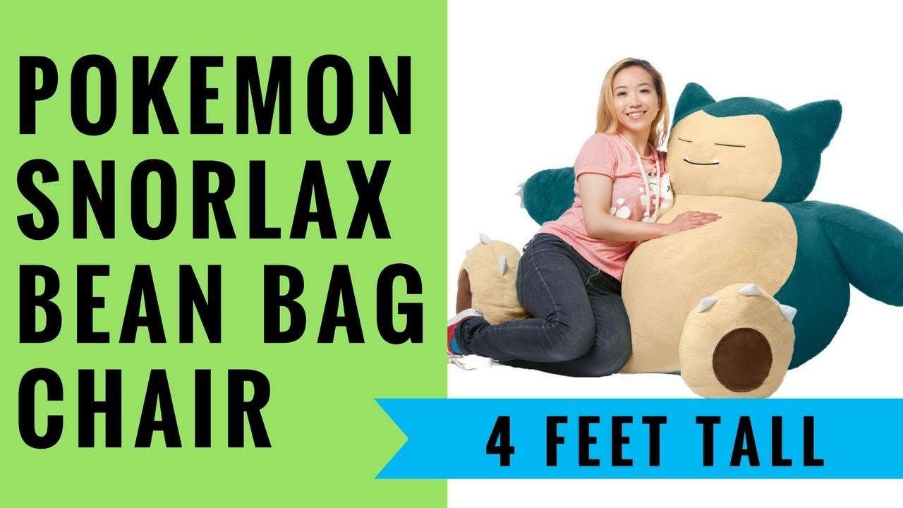 Snorlax Bean Bag Chair Review Massage Ebay Pokemon In Giant Or Full Size Youtube