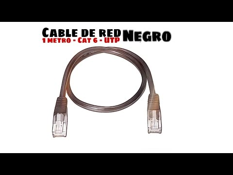 Video de Cable de red UTP CAT6 1 M Negro