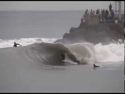 Perfect Barrel Section - Surfing in Santa Barbara, California!
