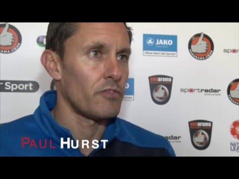Pre Eastleigh with Paul Hurst