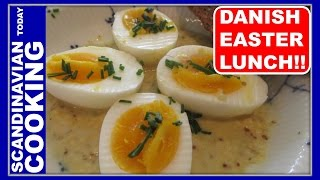 """Skidne æg (in Danish Nicknamed """"dirty Eggs"""")  Eggs In Mustard Sauce For A Danish Easter Lunch"""