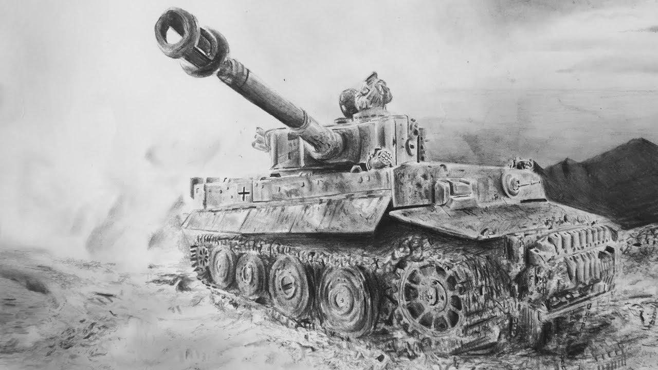 Dessin D Un Tank Tiger 1 Allemand Seconde Guerre Mondiale Youtube