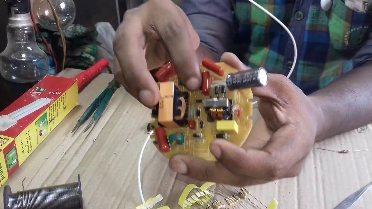 How to repair cfl light bulb/85 watt full repair in hindi