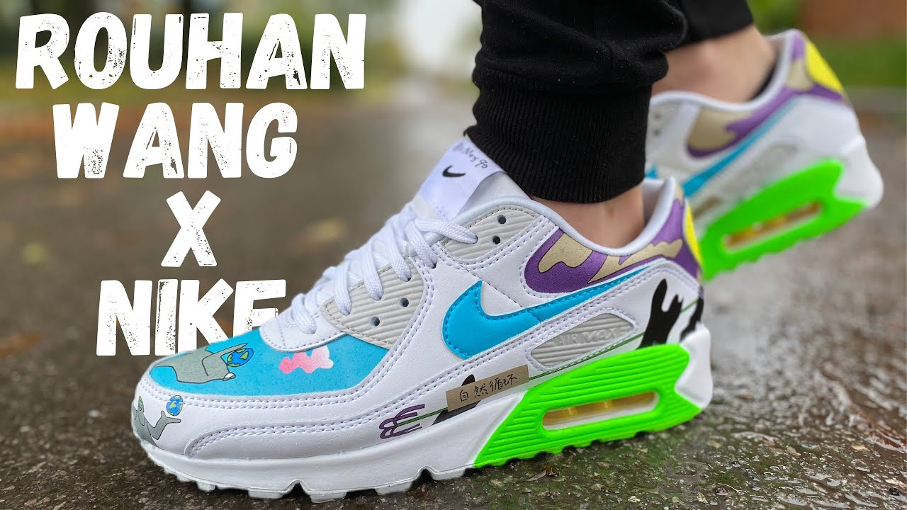 THESE SOLD OUT BUT YOU CAN STILL GET THEM! ROUHAN WANG X NIKE AIRMAX 90 REVIEW & ON FOOT