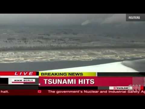 11.03.2011.Цунами в Японии.Волна