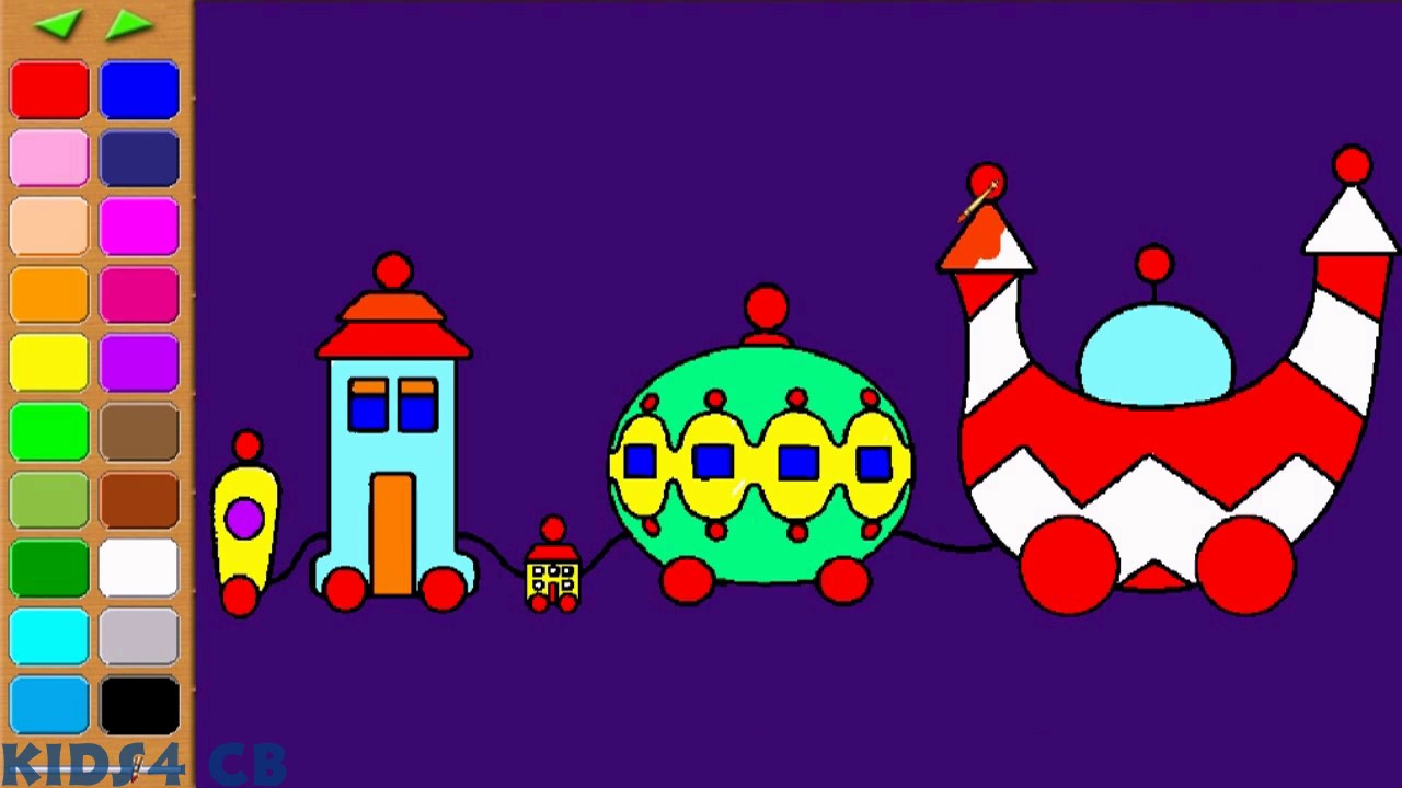 In the Night Garden The Ninky Nonk Coloring Pages YouTube
