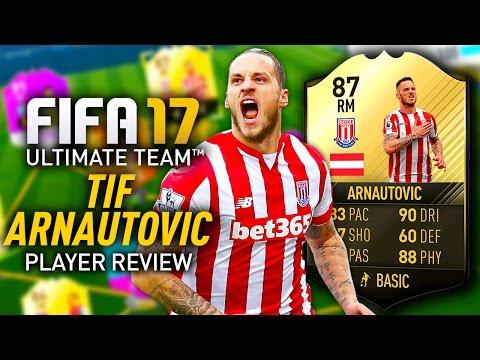 FIFA 17 TIF ARNAUTOVIC (87) *AMAZING LONG SHOTS* PLAYER REVIEW! FIFA 17 ULTIMATE TEAM!