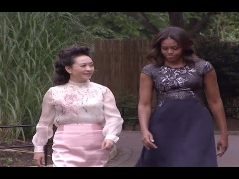 Chinese, US First Ladies Visit Pandas at National Zoo