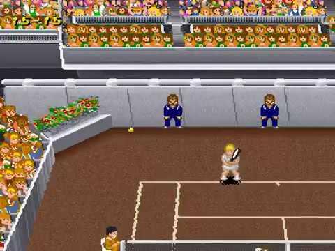 Super Tennis (SNES) Gameplay