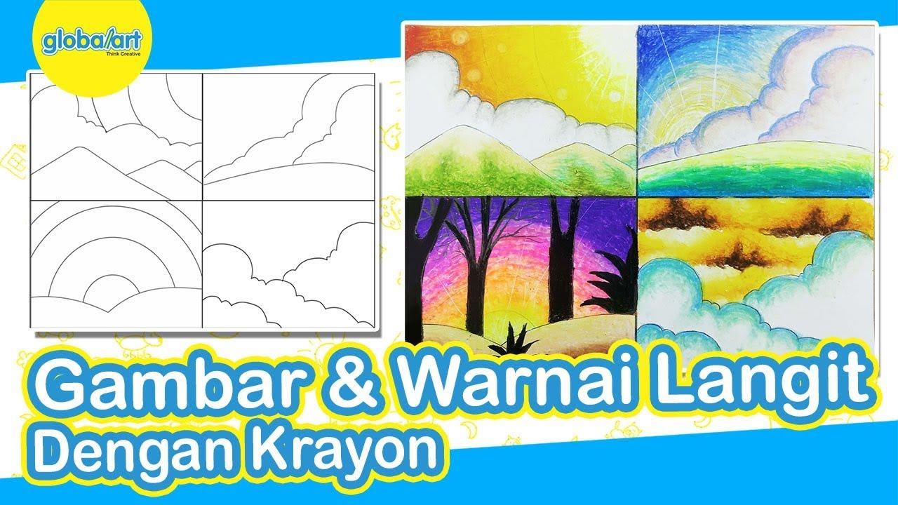 Tips Menggambar Dan Mewarnai Langit Dengan Crayon Tips Menggambar