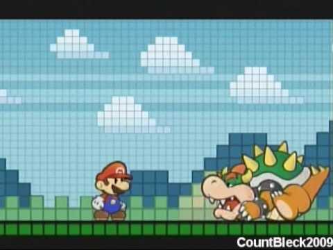 Super Paper Mario Boss Battle: Bowser #1