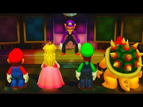 Super Mario Party - Minigames - Mario vs Peach vs Luigi vs Bowser