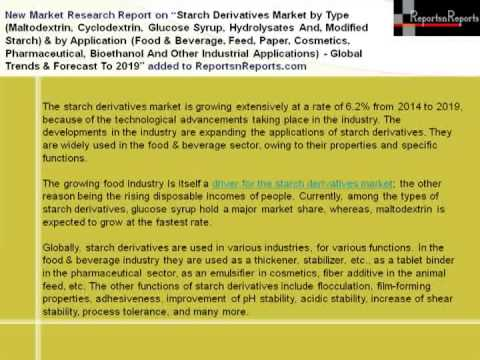 types of modified starch 7 starch derivatives market, by type (page no - 64) 71 introduction 72 maltodextrin 76 spray dried starch powder 77 other modified starches.