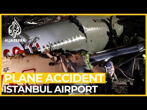 Dozens injured as plane skids off Istanbul airport runway