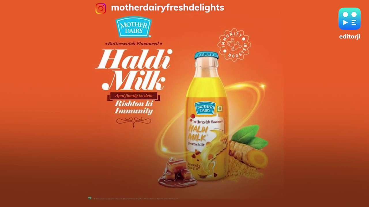 Mother Dairy launches haldi milk to boost immunity - YouTube