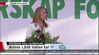Här är Annie Lööfs tal i sin helhet - Nyheterna (TV4)