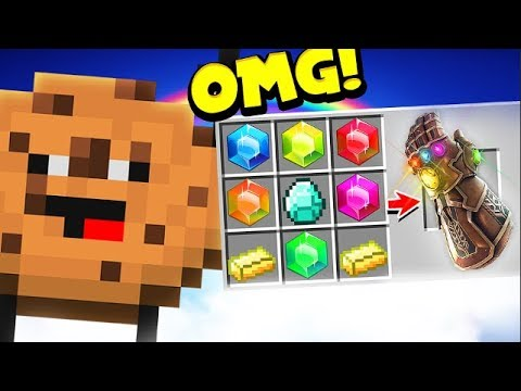 *INFINITY GAUNTLET* IN COOKIE CAMP | MINECRAFT MODDED MINIGAME!