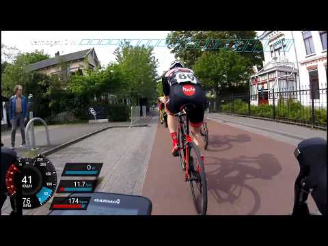 Ronde van Hilversum Elite men GPS/Power overlay 21/05/2017 - #cycling