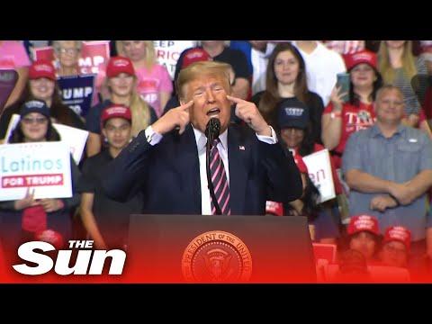 Trump Mocks Dems, Denies 2020 Russian Interference At Rally In Las Vegas