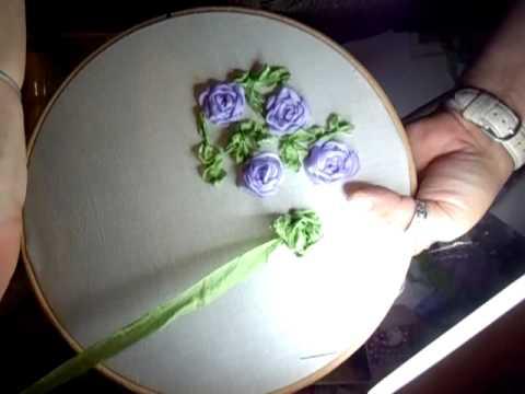 Ribbon Leaves Tutorial Part 2 Jennings644 Youtube
