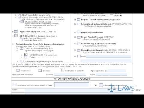 Utility Patent Application Transmittal SB0005