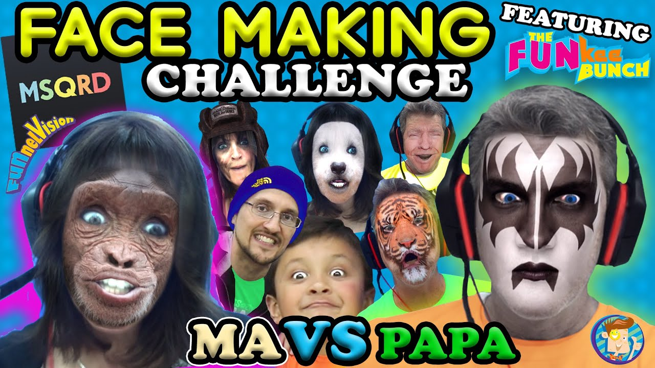 Msqrd Face Making Challenge W Funkee Bunch Funny Face