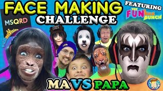 MSQRD Face Making Challenge w/ FUNkee Bunch! (Funny Face Swap App Game w/ FUNnel Vision Ma & Papa)