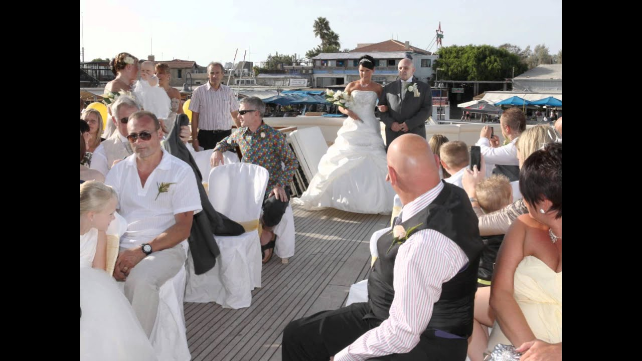 paphos wedding belles yacht ceremony aboard the seastar