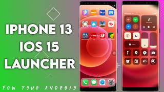 Phone 13 Launcher, IOS 15 iLauncher, Control Center screenshot 1