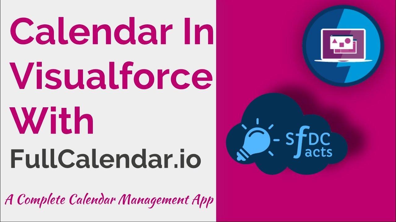 FullCalendar In Visualforce – An easy calendar event management app