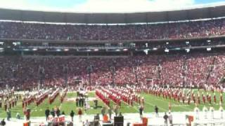 flyover and national anthem tennessee at alabama 2009 football