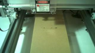 Incisione logo scatola di cartone con laser engraver 500mw e benbox