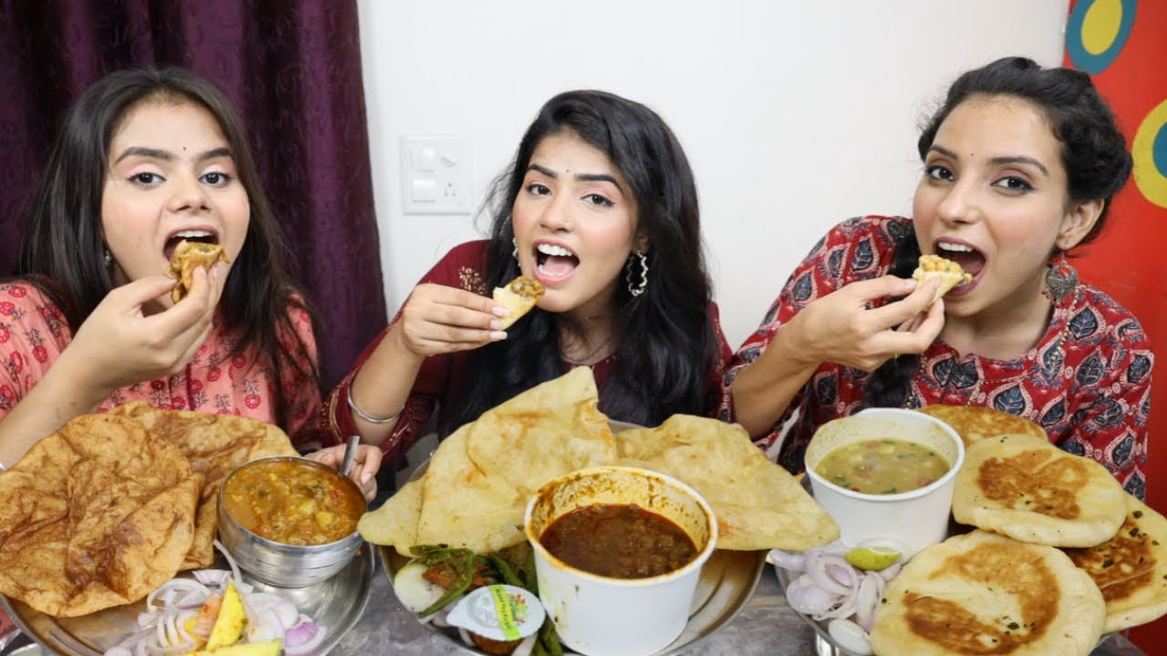 Chole Bhature, Chole Kulche and Chole Puri Eating Challenge | Eating Competition | Food Challenge