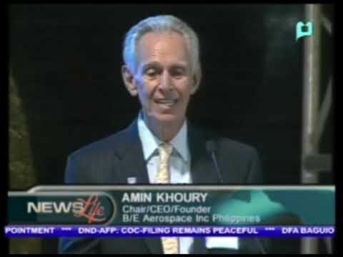 President Benigno Aquino III inaugurates $100-M B/E Aerospace Inc.