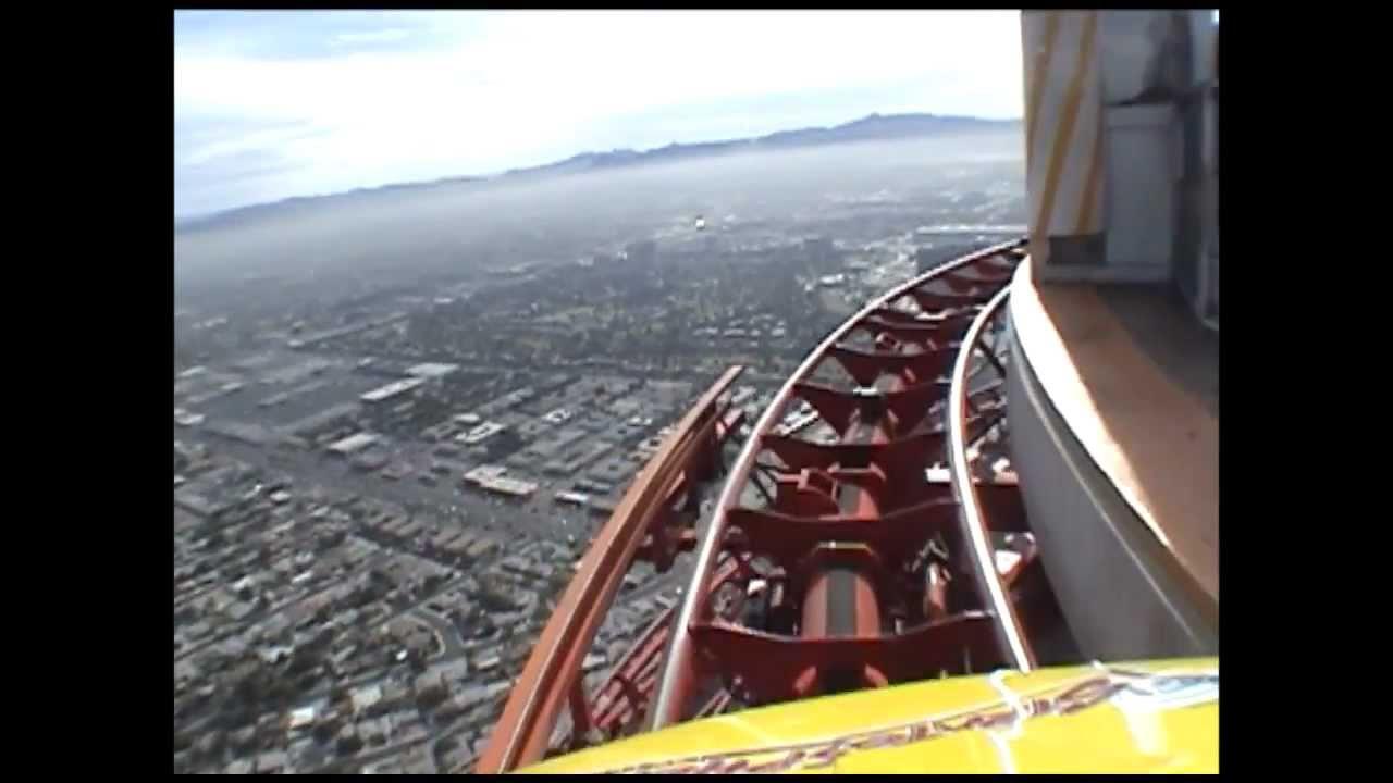 High Roller Roller Coaster Pov Stratosphere Tower Las Vegas Closed