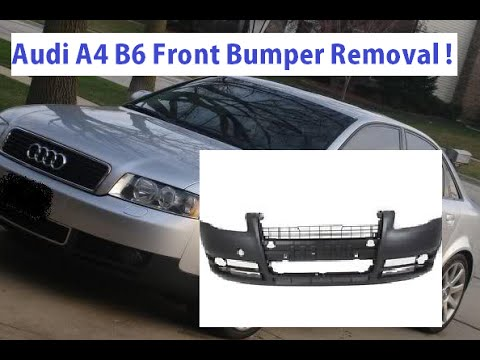 audi a4 b6 front bumper removal and replacement in 5 minutes youtube rh youtube com 2002 Audi Quattro Owner's Manual Rear View Mirror for 2000 Audi