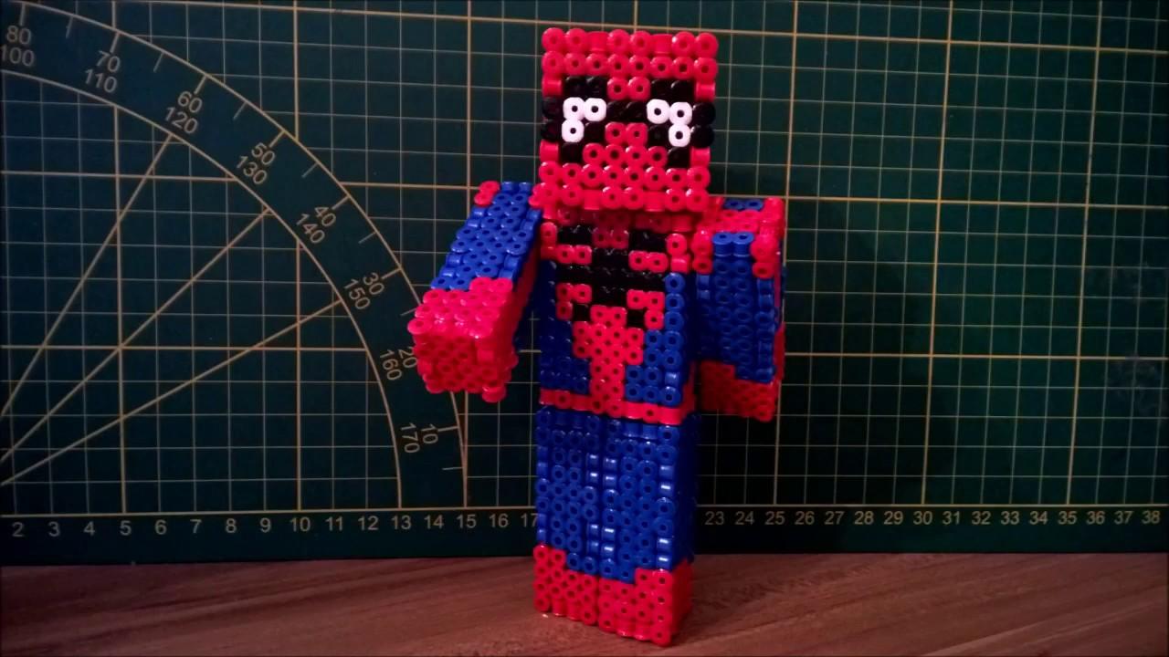 3d Minecraft Block Pattern And Pickaxe Perler Beads By Pixelempire