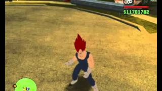 GTA San Andreas Dragon Ball Z Modpack - SSJGod Vegita & Saiyan Dance